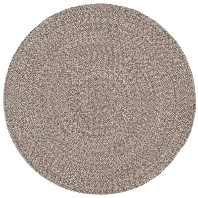 Paulina Versatile Hand Tufted Cotton Brown Area Rug Rug Size: Round 4