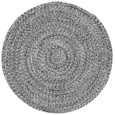 Paulina Hand Tufted Cotton Gray Area Rug Rug Size: Round 4