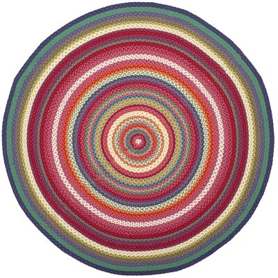 Paulina Hand Tufted Pink Area Rug Rug Size: Round 3