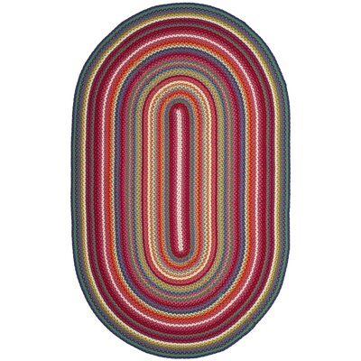 Paulina Hand Tufted Pink Area Rug Rug Size: Oval 6 x 9