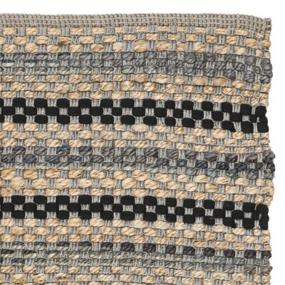 Abhay Hand Woven Gray/Beige Area Rug Rug Size: Rectangle 3 x 5