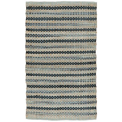 Abhay Hand Woven Blue/Black Area Rug Rug Size: Rectangle 3 x 5