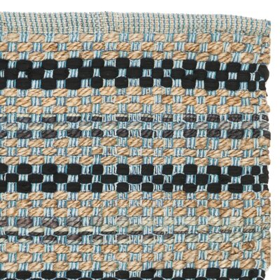 Abhay Hand Woven Blue/Black Area Rug Rug Size: Runner 23 x 8