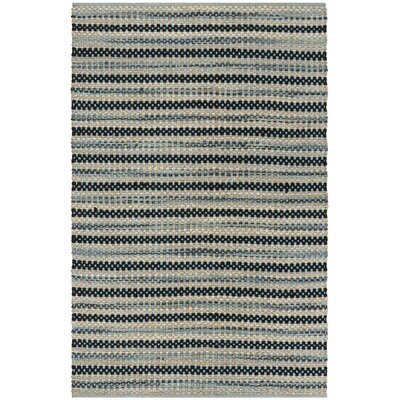Abhay Hand Woven Blue/Black Area Rug Rug Size: Rectangle 5 x 8