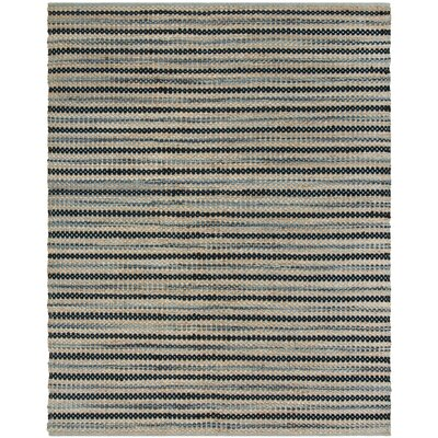 Abhay Hand Woven Blue/Black Area Rug Rug Size: Rectangle 8 x 10