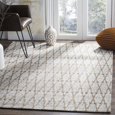 Min Hand Woven Gray Area Rug Rug Size: Rectangle 4 x 6
