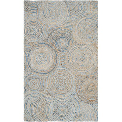 Abhay Boho Hand Woven Jute/Sisal Gray/Blue Area Rug Rug Size: Rectangle 5 x 8