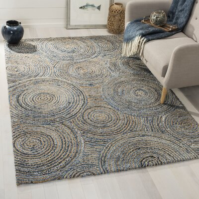 Abhay Hand Woven Gray/Blue Area Rug Rug Size: Rectangle 5 x 8