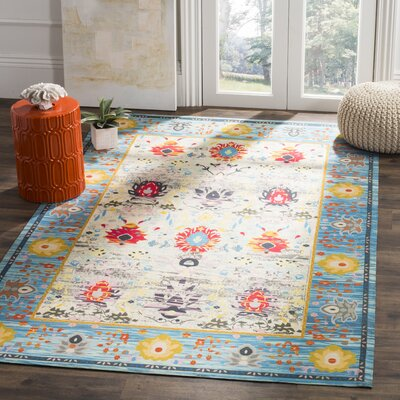 Sonakshi Hand Tufted Blue Area Rug Rug Size: Rectangle 4 x 6
