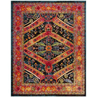 Owen Turquoise Area Rug Rug Size: Rectangle 6 x 9