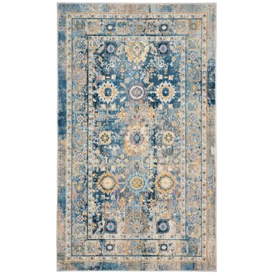 Randolph Blue Area Rug Rug Size: Rectangle 33 x 53