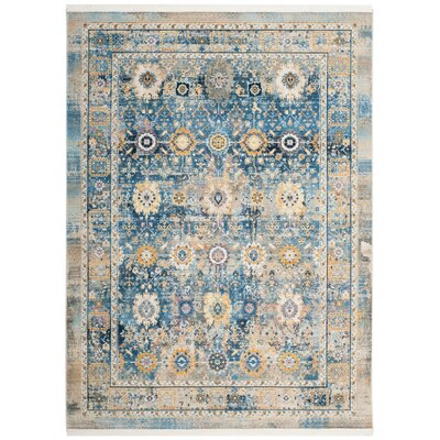 Randolph Blue Area Rug Rug Size: Rectangle 51 x 79