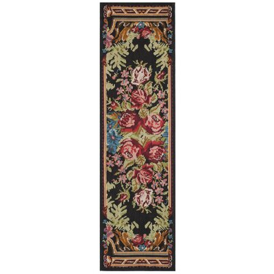 Frederica Black/Pink Area Rug Rug Size: Square 6