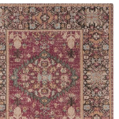 Mercer Red Area Rug Rug Size: Square 6'