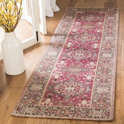 Mercer Red Area Rug Rug Size: Runner 23 x 8