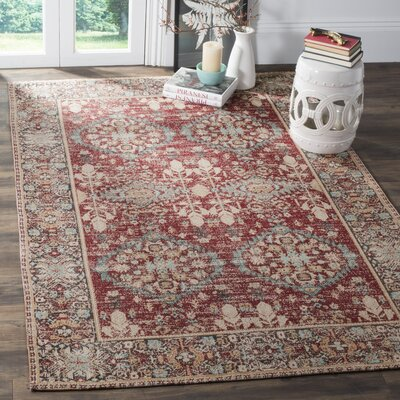 Mercer Red Area Rug Rug Size: Rectangle 4 x 6