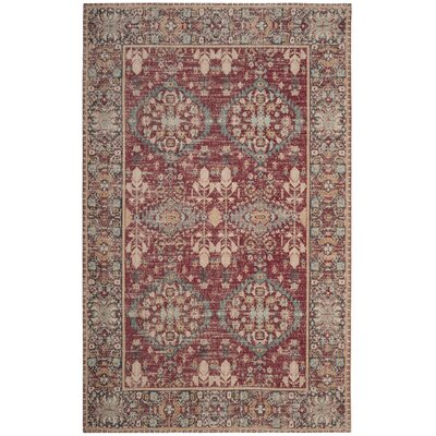Mercer Red Area Rug Rug Size: Rectangle 3 x 5