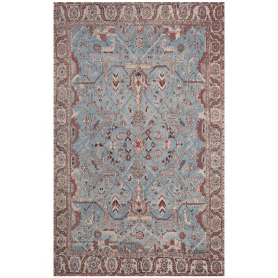 Mercer Blue Area Rug Rug Size: Rectangle 5 x 8