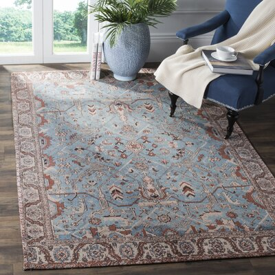 Mercer Blue Area Rug Rug Size: Square 6