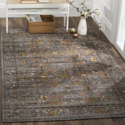 Mercer Gray Area Rug Rug Size: Rectangle 6 x 9