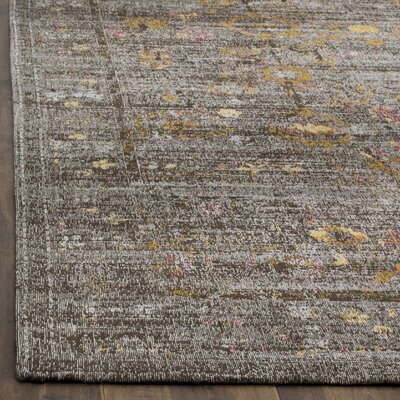Mercer Gray Area Rug Rug Size: Square 6