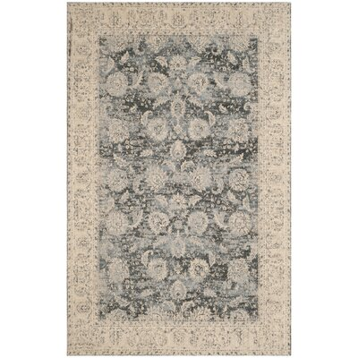 Mercer Cream/Gray Area Rug Rug Size: Rectangle 4 x 6