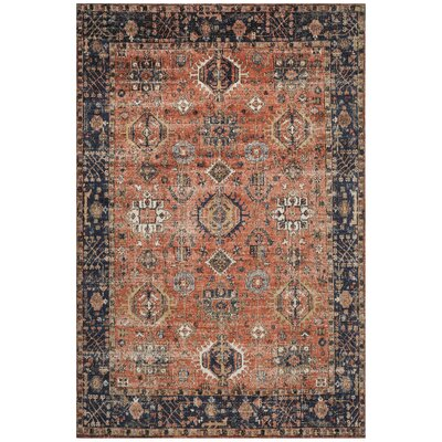 Mercer Rust Area Rug Rug Size: Rectangle 6 x 9