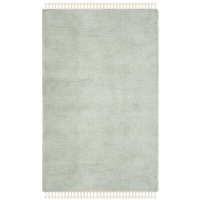 Janis Shag Hand Tufted Wool Gray Area Rug Rug Size: Rectangle 5 x 8