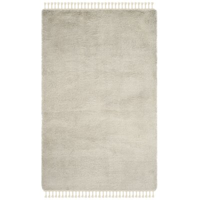 Janis Shag Hand Tufted Wool Gray Area Rug Rug Size: Rectangle 5' x 8'