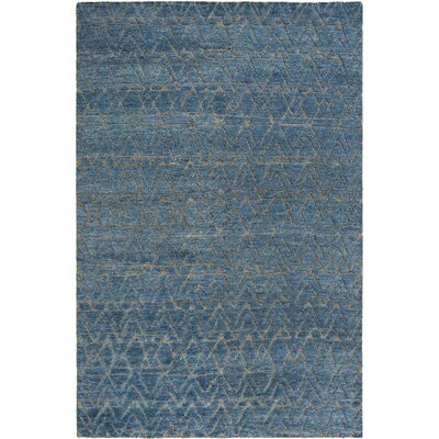 Merriam Contemporary Hand Tufted Wool Blue Area Rug Rug Size: Rectangle 6 x 9
