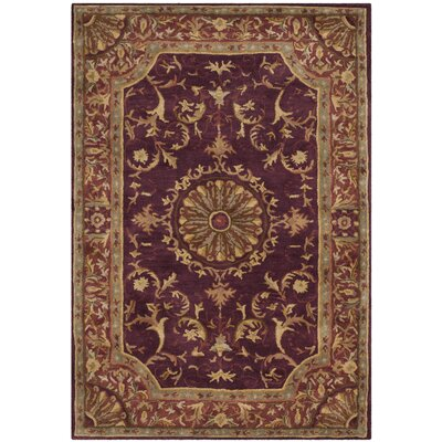 Latarra Hand Tufted Wool Burgundy Area Rug Rug Size: Rectangle 2 x 3