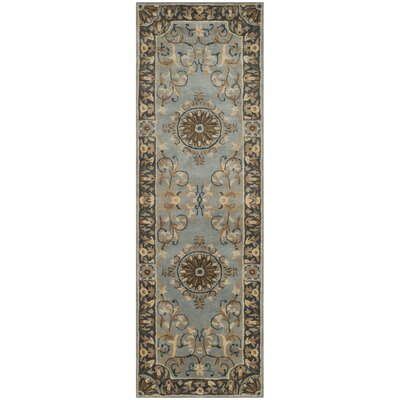 Latarra Hand Tufted Wool Blue Area Rug Rug Size: Runner 26 x 12