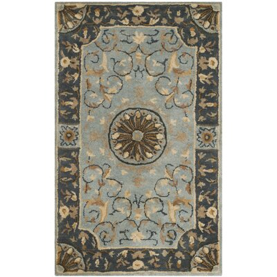 Latarra Hand Tufted Wool Blue Area Rug Rug Size: Rectangle 26 x 4