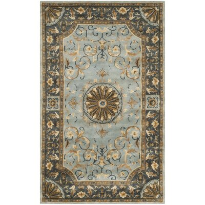 Latarra Hand Tufted Wool Blue Area Rug Rug Size: Rectangle 5 x 8