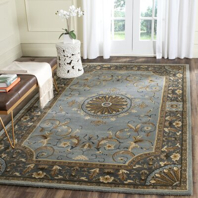 Latarra Hand Tufted Wool Blue Area Rug Rug Size: Rectangle 6 x 9