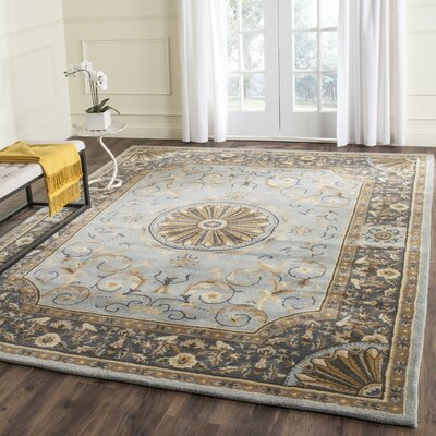 Latarra Hand Tufted Wool Blue Area Rug Rug Size: Rectangle 83 x 11