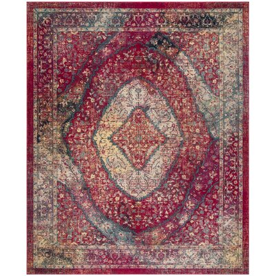 Bayshore Gardens Fuchsia Area Rug Rug Size: Rectangle 9' x 12'