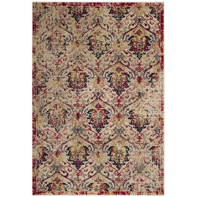 Bayshore Gardens Ivory Area Rug Rug Size: Rectangle 51 x 76