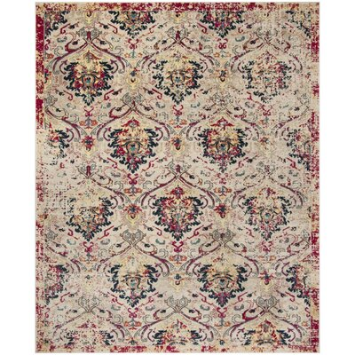 Bayshore Gardens Ivory Area Rug Rug Size: Rectangle 8 x 10