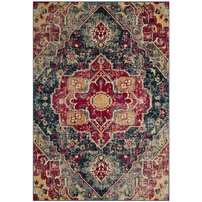 Bayshore Gardens Blue Area Rug Rug Size: Rectangle 4 x 6