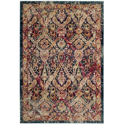 Bayshore Gardens Blue Area Rug Rug Size: Rectangle 9 x 12