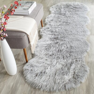 Brennan Light Gray Area Rug Rug Size: Runner 26 x 8