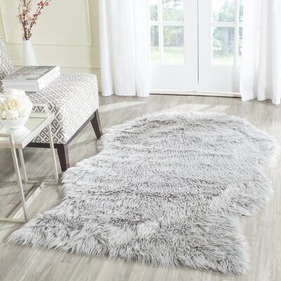 Brennan Light Gray Area Rug Rug Size: Rectangle 4 x 6