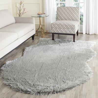 Brennan Light Gray Area Rug Rug Size: Rectangle 5 x 8