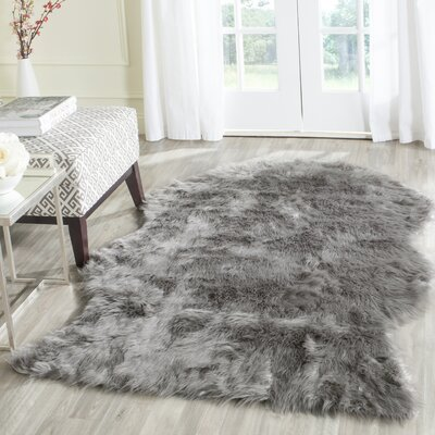 Brennan Dark Gray Area Rug Rug Size: Rectangle 4 x 6