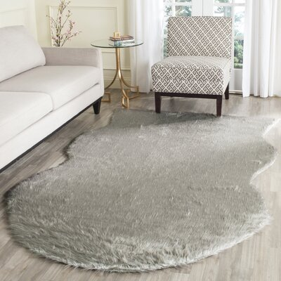 Brennan Dark Gray Area Rug Rug Size: Rectangle 5 x 8