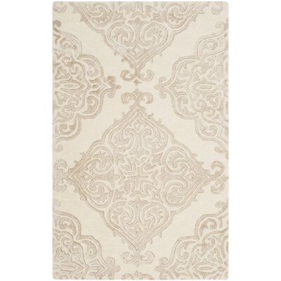Bernon Hand Tufted Wool Ivory Area Rug Rug Size: Rectangle 8 x 10