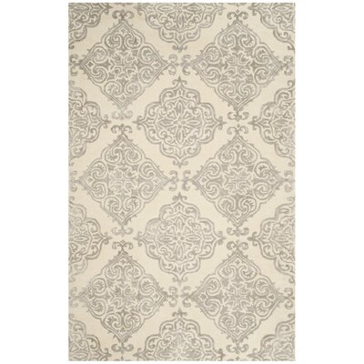Bernon Hand Tufted Ivory Area Rug Rug Size: Rectangle 5 x 8