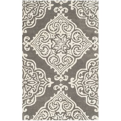 Bernon Hand Tufted Dark Gray Area Rug Rug Size: Rectangle 2 x 3