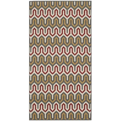 Kelston Red/Brown Area Rug Rug Size: Rectangle 27 x 5